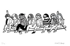 Michael C. Hsiung | Poster Child Prints | Longboarders