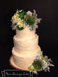 Rustic Buttercream done by Reva Alexander-Hawk for Merci Beaucoup Cakes