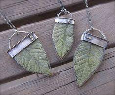 leaf resin jewelry