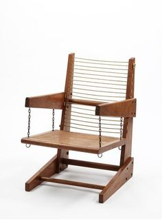 Armchair, designed by Pierre Jeanneret, made in Chandigarh, India. Indian Furniture, Unique Furniture, Furniture Making, Wood Furniture, Furniture Design, Picnic Table Bench, Throne Chair, Diy Chair, Cool Chairs