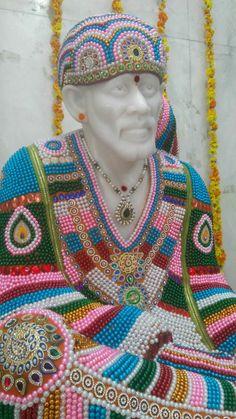 Sai baba designed with beads