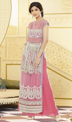 Palazzo Indian Suits | Shilpa-Shetty-Gray-Embroidered-Net-Palazzo-Suit-FD-2754-50117_large ...