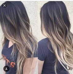 Hair color balayages