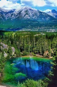 Grassi Lake, Alberta, Canada.