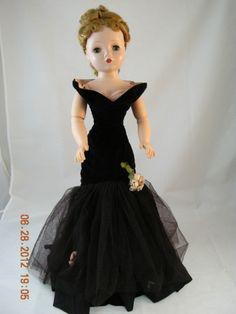 VINTAGE CISSY MADAME ALEXANDER DOLL BLACK TORSO TAGGED DRESS BLONDE FANCY HAIR | eBay