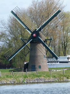 Old Windmills, Wind Power, Le Moulin, Wind Turbine, Around The Worlds, Architecture, City, Water, Photography