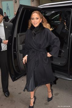 Pin for Later: Can't-Miss Celebrity Pics!  Jennifer Lopez made a picture-perfect arrival outside The Wendy Williams Show in NYC on Tuesday.
