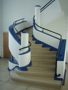 Art Deco staircase in Victor House