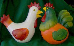ABruxinhaCoisasGirasdaCarmita: Casal de galinhas (chacota)