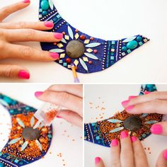 DIY Copycat: Anthropologie Beaded Bib Necklace | Brit + Co.