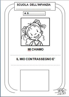 Libretto sull'Accoglienza Activities For Kids, Crafts For Kids, Baby Words, Montessori, Coloring Books, Back To School, Classroom, Teacher, Anna