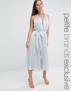 3ca8ef0d4a5 True Decadence Petite Plunge Front Pleated Culotte Jumpsuit With Belt at  asos.com