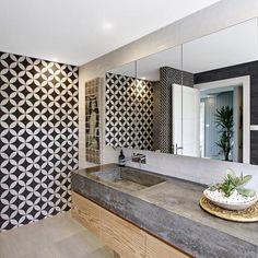 the grove byron bay - bathroom 3 Bathroom Renos, Laundry In Bathroom, Small Bathroom, Bathroom Ideas, Bathroom Renovations, Bathroom Tiling, Bathroom Gray, Shiplap Bathroom, Ikea Bathroom