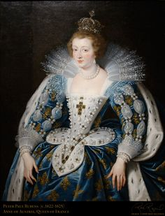 Anne d'Autriche. Ana María Mauricia, infante d'Espagne, (1601-1666) est reine de France et de Navarre de 1615 à 1643 en tant qu'épouse de Louis XIII, puis régente de ces deux royaumes pendant la minorité de son fils (de 1643 à 1651). Elle est la fille du roi Philippe III (1578-1621), roi d'Espagne (1598-1621) et de l'archiduchesse Marguerite d'Autriche. Elle est la mère de Louis XIV, le « roi Soleil », et de Philippe, duc d'Orléans. Portrait par Rubens