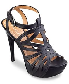 GUESS Women's Shoes, Oliane Platform Sandals Women's Shoes from Macy's on Catalog Spree, my personal digital mall. Pretty Shoes, Beautiful Shoes, Cute Shoes, Heeled Boots, Shoe Boots, Shoes Sandals, Strappy Sandals, Flat Sandals, Women Sandals