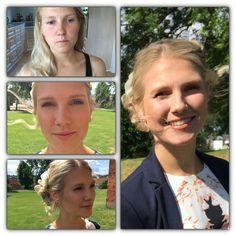 Smukke Stine skulle have lagt en meget naturlig Make Up til sit uofficielle bryllup på Koldinghus.  Her ses før og efter billeder