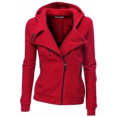 Doublju Women's Fleece Zip-Up High Neck Jacket. Functional and stylish! Vetement Fashion, Mein Style, Sweater Jacket, Moto Jacket, Navy Jacket, Brown Jacket, Jacket Men, Look Fashion, Vogue Fashion