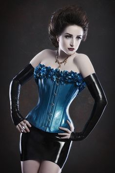 Floral latex Corset  made to order by OohLaLatex on Etsy, £380.00
