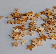 wood star sequins