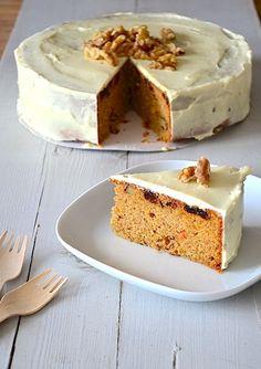 Repost Carrot Cake - Lekkere taart! Gemaakt vor Yannick's 3e verjaardag en het was een succes! Heb alleeb de noten weggelaten.