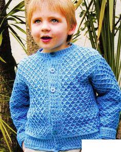 Ouro Crochet: Casaco azul! (Para children)