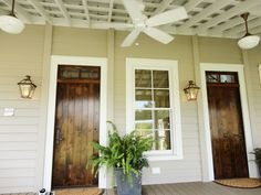 love the porch ceiling