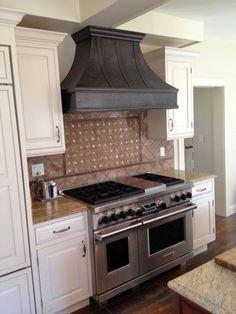 Custom made copper kitchen hoods Copper Hood Vent, Range Hood Vent, Custom Kitchen Cabinets, Custom Cabinetry, Kitchen Hoods, Kitchen Appliances, Kitchens, Kitchen Gallery, Copper Kitchen
