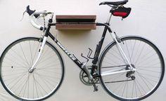 Wooden Bike Rack Walnut Wooden Bike Shelf Bike by WorldOfOurCubes