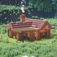 Minecraft Crafts, Art Minecraft, Cute Minecraft Houses, Minecraft Structures, Minecraft Plans, Amazing Minecraft, Minecraft House Designs, Minecraft Survival, Minecraft Tutorial