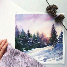 Watercolorist: @anna_pole #waterblog #акварель #aquarelle #painting #drawing #art #artist #artwork #painting #illustration #watercolor #aquarela