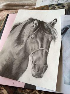Work in progress, A4 horse portrait