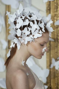 Alexis Mabille Haute Couture Spring 2014 Butterfly Hair. The wedding fairy sees these in chiffon or lace with an option of aurora borealis sprinkles. Its your special day, we'll help you discover your theme and style. destinationweddings.travel