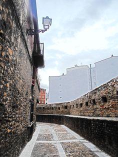 Angulo de la cerca medieval.
