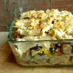 Low-Fat Enchilada Bake Recipe via @SparkPeople
