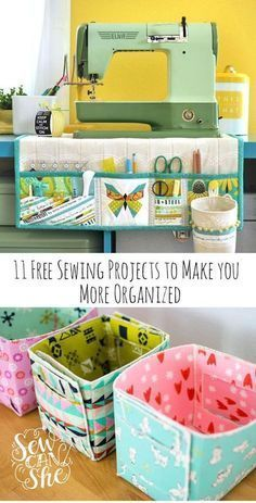 Best Free Sewing Projects to Make You More Organized! - - Best Free Sewing Projects to Make You More Organized! Best Free Sewing Projects to Make You More Organized! 11 Free Sewing Projects to Make You More Organized! Easy Sewing Projects, Sewing Projects For Beginners, Sewing Hacks, Sewing Tutorials, Sewing Crafts, Sewing Tips, Sewing Ideas, Craft Projects, Sewing Machine Projects