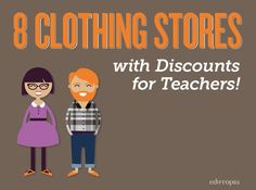 Clothing discounts for teachers! Buy clothes for the new school year without breaking the bank. Teaching Outfits, Teaching Tips, The New School, New School Year, School Days, Style Prof, Teacher Wardrobe, Teacher Clothes, Discounts For Teachers