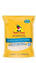 Robin Hood® Nutri Flour BlendTM Gluten Free(NEW FORMULA WITH XANTHAN GUM)- Our Gluten Free All Purpose Flour Blend is made from rice flour blended with xanthan gum, pea fibre and potato and tapioca starches. It makes it easy for you to enjoy all your favourite baked goods without gluten.
