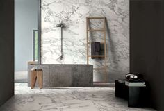 Casa Dolce Casa Stones & More - Casa Ceramica Stone Interior, Interior Design, Imperial Tile, Design Studio Office, Large Format Tile, Italian Marble, Marble Tiles, Marble Effect, Wall And Floor Tiles