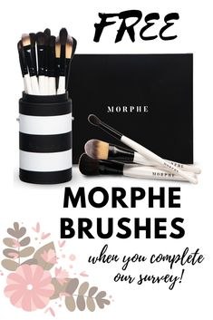 🖤💋 It's Morphe Mania this week--and we're shipping FREE MORPHE BEAUTY BRUSHES to everyone who completes our quick consumer survey! Now that's lovely. Love Makeup, Makeup Inspo, Makeup Inspiration, Makeup Tips, Hair Makeup, Free Stuff By Mail, Get Free Stuff, Beauty Brushes, Makeup Brushes