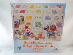 SunsOut 24218 Spools Sewing & Quilting 1000 Piece Jigsaw Puzzle Rebecca Barker #SunsOut