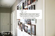 Tips for Organizing Gallery Walls at www.maisondepax.com: use molding to create a frame for the collage
