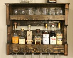 Wood Wine and/or Liquor Shelf made of Pallet Wood-DIY Project