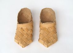 traditional Finnish woven leather shoes