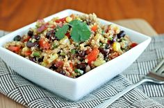 Quinoa salad with beans by AudraL
