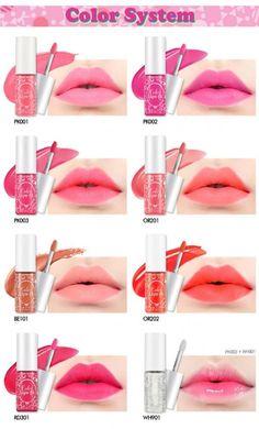 Etude House Release for Spring 2014 - Color Lips Fit Collection Lip Makeup, Makeup Eyeshadow, Makeup Cosmetics, Makeup Tips, Makeup Stuff, Korean Makeup Look, Asian Makeup, Korean Beauty, Asian Beauty