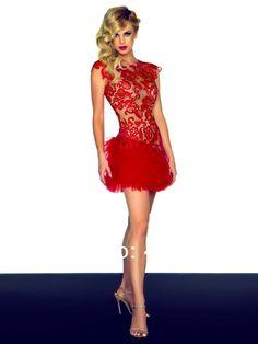 modelos de vestidos rojos cortos mini corto de tul rojo y