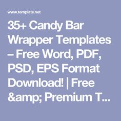 35+ Candy Bar Wrapper Templates – Free Word, PDF, PSD, EPS Format Download! | Free & Premium Templates Candy Bar Wrapper Template, Candy Bar Wrappers, Mom Birthday, Party Printables, Diy Projects, Party Ideas, Gift Ideas, Basket Ideas, Templates Free