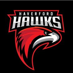 Haverford Hawks Hockey's logo designed by jk graphix