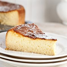 Italian cheesecake made with ricotta & mascarpone Easy Desserts, Delicious Desserts, Dessert Recipes, Yummy Food, Turkish Recipes, Italian Recipes, Italian Desserts, Italian Ricotta Cheesecake, Ricotta Pie