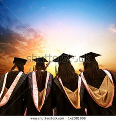 Graduates face the morning sun by gyn9037, via Shutterstock